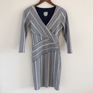 🆕 Anthropologie Maeve Stripe Wrap Dress Size XS